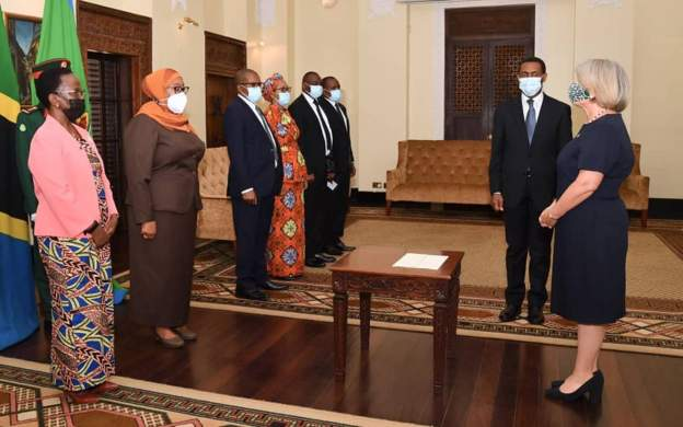 Covid-protection measures for Tanzania's state house